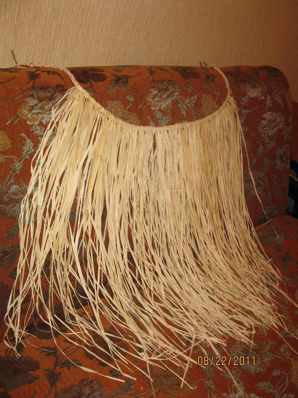 Как сделать гавайскую юбку